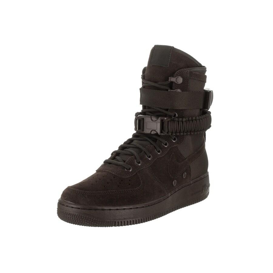 Nike Men's SF AF1 Basketball Shoe (10), Brown (leather)