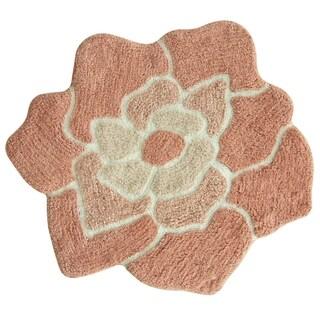 Cora 100% Cotton shaped bath rug by Bacova