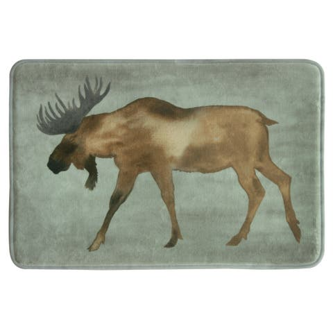 Moose 20x30 memory foam bath rug by Bacova