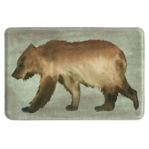 Bear 20x30 memory foam bath rug by Bacova