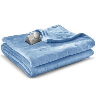 Biddeford MicroPlush Electric Heated Blanket Twin Blue