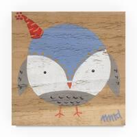 Nicole Dietz 'Owl Blue' Canvas Art