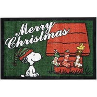 "Peanuts Buddies ""Merry Christmas"" Green Accent Rug by Nourison"