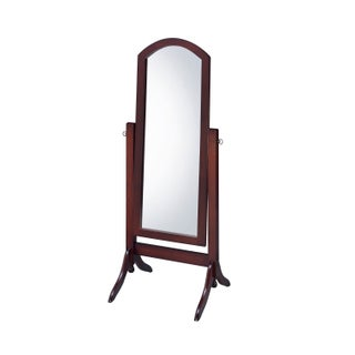 Barrington Cheval Floor Mirror (Option: Walnut - Brown - Walnut)