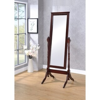 Fairfax Walnut Cheval Floor Mirror