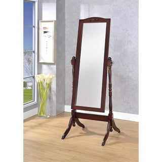 Victoria Walnut Cheval Floor Mirror