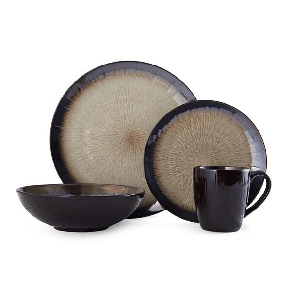 Shop Mikasa Gourmet Basics Reed 16-Piece Dinnerware Set - Free ...