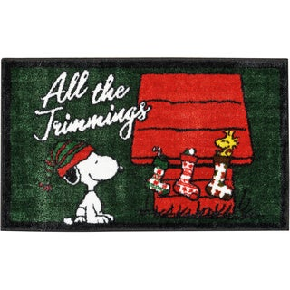 "Peanuts Buddies ""All The Trimmings"" Green Accent Rug by Nourison (1'6 X2'6)"