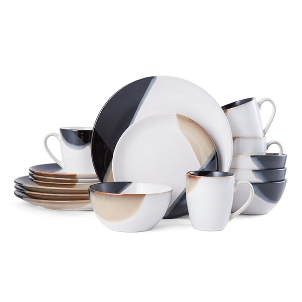 Mikasa Gourmet Basics Caden 16-Piece Dinnerware Set  sc 1 st  Overstock & Mikasa Gourmet Basics Caden 16-Piece Dinnerware Set - Free Shipping ...