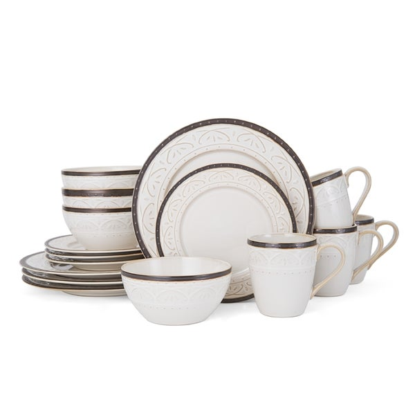 Pfaltzgraff Promenade Scroll 16-Piece Dinnerware Set  sc 1 st  Overstock.com & Pfaltzgraff Promenade Scroll 16-Piece Dinnerware Set - Free Shipping ...