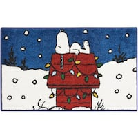 "Peanuts Buddies ""Sleeping"" Navy Accent Rug by Nourison"