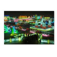 Robert Harding Picture Library 'Lit Up City' Canvas Art