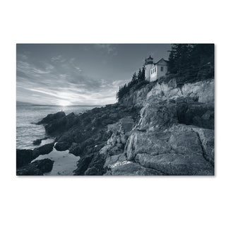 Alan Majchrowicz 'Bass Harbor Head Sunset no Border' Canvas Art