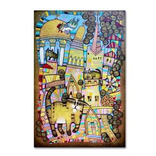 Albena Vatcheva 'La Ville Aux 100 Chats' Canvas Art