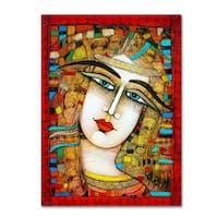 Albena Vatcheva 'Jeune Fille 2' Canvas Art