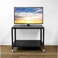 Urban Shop Metallic Rolling TV Cart