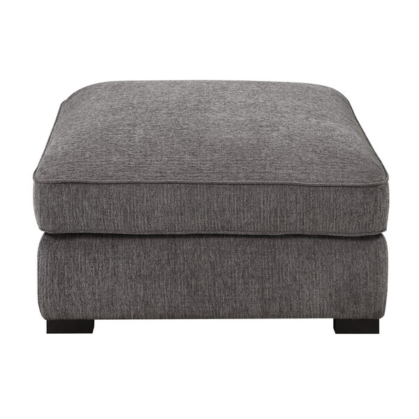 Madrid Taupe Beige Ultra Modern Living Room Furniture 3: Shop Emerald Home Repose Gray Ottoman With Ultra Soft