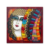 Albena Vatcheva 'Jeune Fille 4' Canvas Art