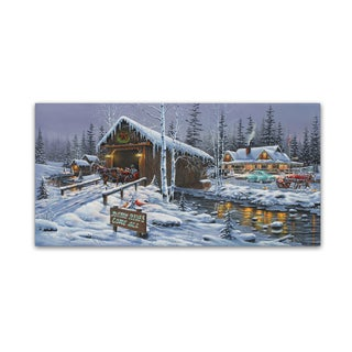 Geno Peoples 'Holiday Gathering' Canvas Art