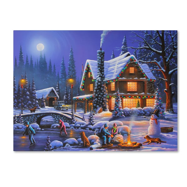Geno Peoples 'Holiday Spirit' Canvas Art