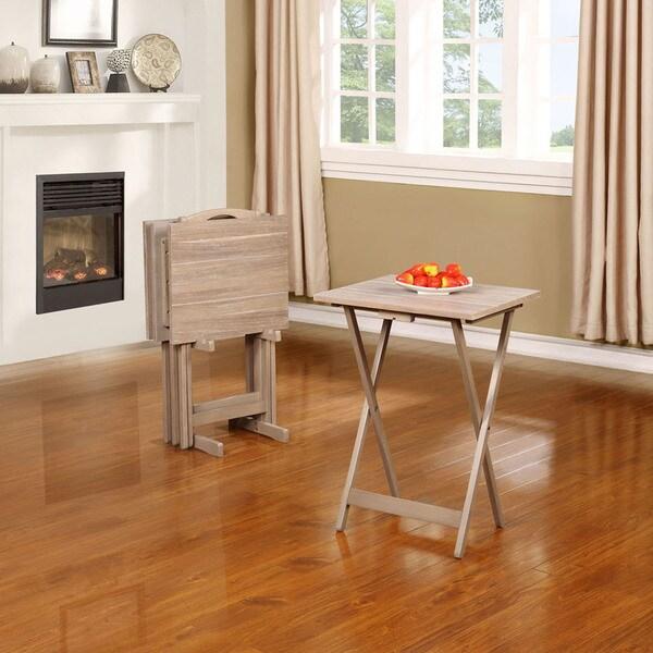 Acacia Gray Tray Table Set