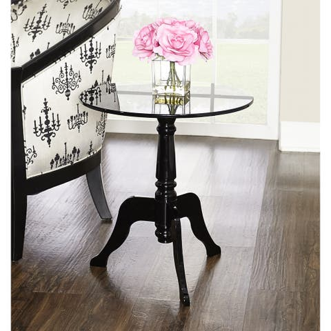 Sarah Black Acrylic End Table