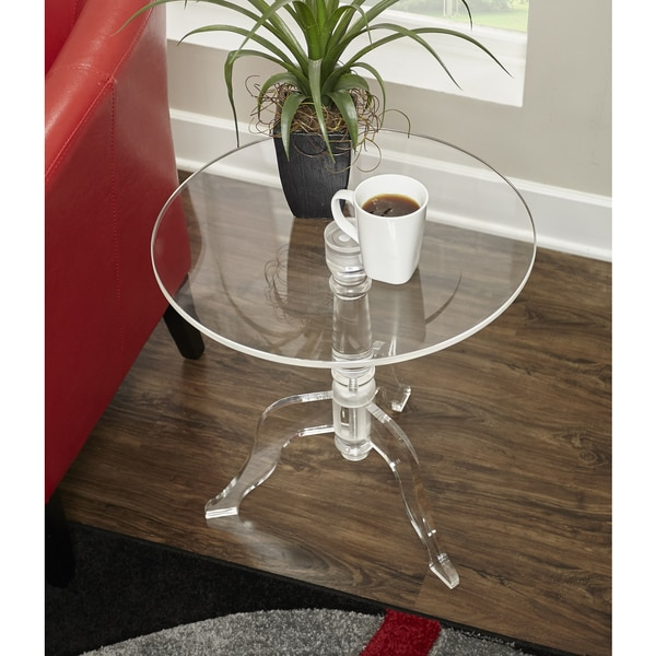 Shop Sarah Clear Acrylic End Table Free Shipping Today Overstock