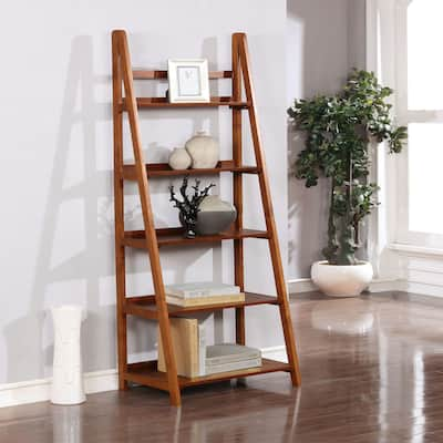 Meade Mid-century Modern Ladder Bookcase
