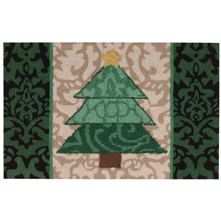 "Waverly Christmas ""Christmas Tree"" Green Accent Rug by Nourison (1'9 X2'9)"