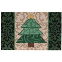 "Waverly Christmas ""Christmas Tree"" Green Accent Rug by Nourison"