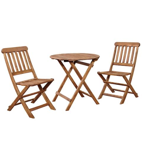 Catalan CAFE SET TEAK FINISH