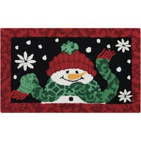 "Waverly Christmas ""Snowman"" Black Accent Rug by Nourison"