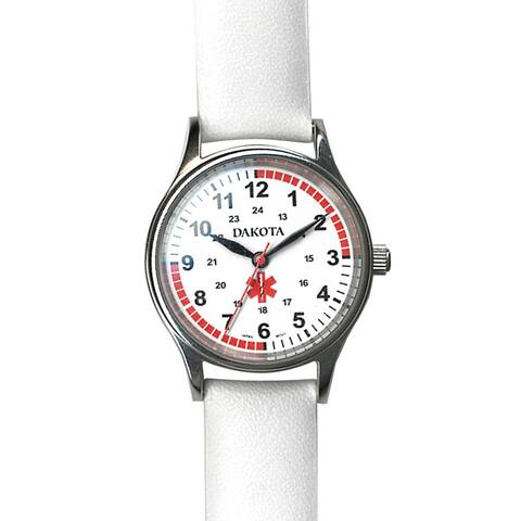 Dakota Women's White Leather Nurse Watch