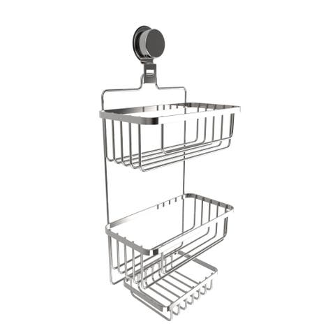 Wall Mounted 3 Tier Shower Caddy- Hanging Shower Storage Rack for Bathroom Space Saving