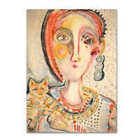 Wyanne 'Tiger Cat' Canvas Art