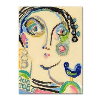 Wyanne 'Bluebird On My Shoulder' Canvas Art