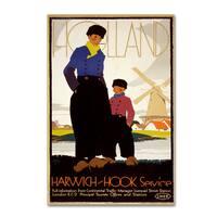 Vintage Apple Collection 'Travel Holland' Canvas Art