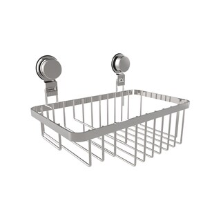 Wall Mounted Shower Caddy- Stainless Steel Twist Lock Suction Cups by Windsor Home