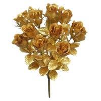 14 Stems Faux Blossoms Rose Bush