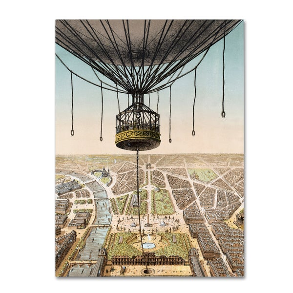 Vintage Apple Collection 'Panorama De Paris' Canvas Art