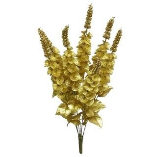 "29""H Faux Satin Bell of Ireland Flower Bush, Gold"