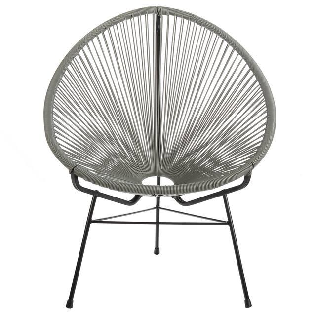 Acapulco Indoor / Outdoor Outdoor Patio Lounge Chair, Grey