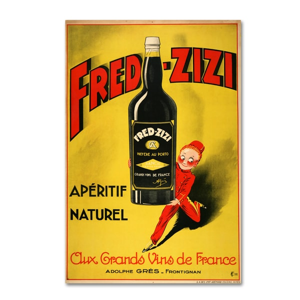 Shop Vintage Apple Collection 'Fred Zizi' Canvas Art - Free Shipping