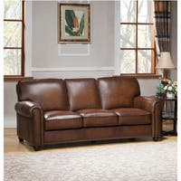 Oasis Premium Brown Top Grain Leather Sofa And Loveseat