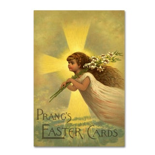 Vintage Apple Collection 'Easter Cards' Canvas Art