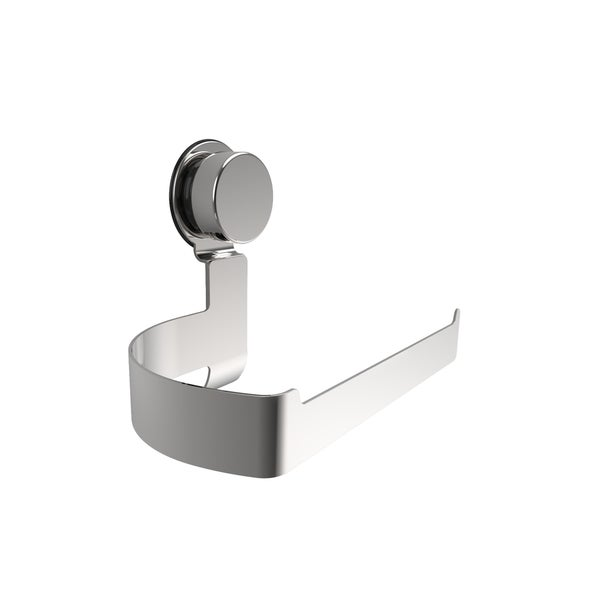 Wall Mounted Toilet Paper Roll Holder Dispenser- Twist Lock Rust Resistant Stainless Steel Suction Cup by Windsor Home