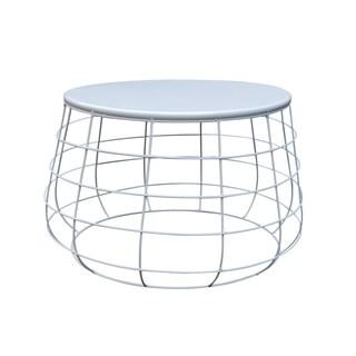 "24"" Cream White Side Table"