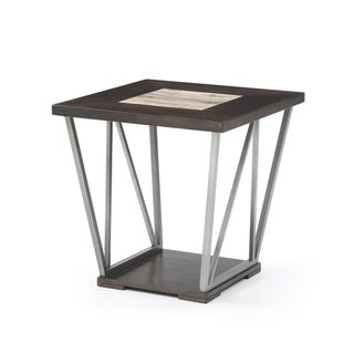 Emerald Home North Bay Tile Top Metal Legs End Table