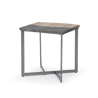 Carbon Loft Daedalus Natural Paper and Concrete Grey Square End Table