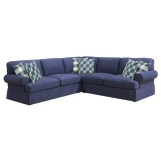 Emerald Home Mt Retreat Blue 3-Piece Sectional